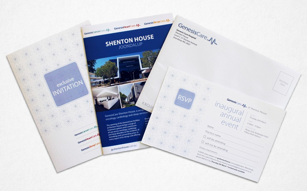Print archives slick design 1200 personalised send out of invitations rsvp cards and a brochure detailing the ground breaking facilities now available in joondalup reheart Gallery