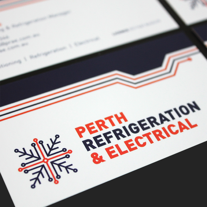 Perth refrigeration electrical logo and business cards slick design perth refrigeration electrical logo and business cards colourmoves