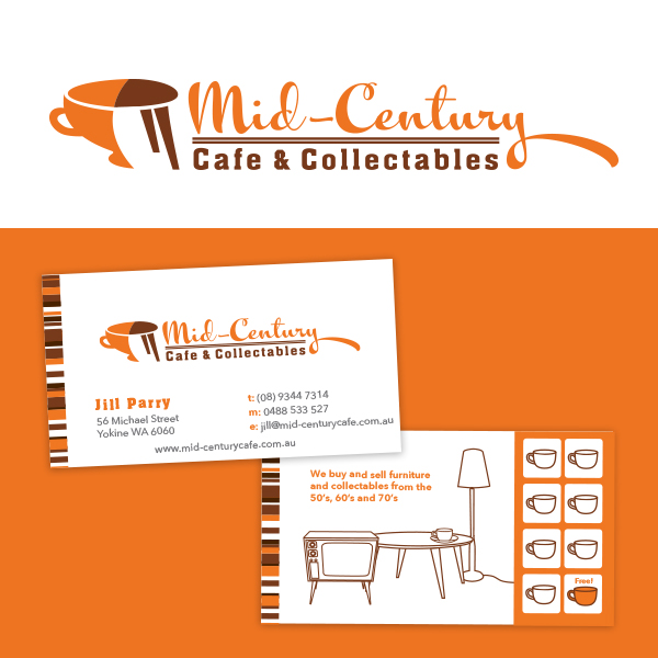 looking forward to a cup of coffee and a browse at the upcoming mid century cafe and collectables which we have recently done the branding for - Midcentury Cafe 2015