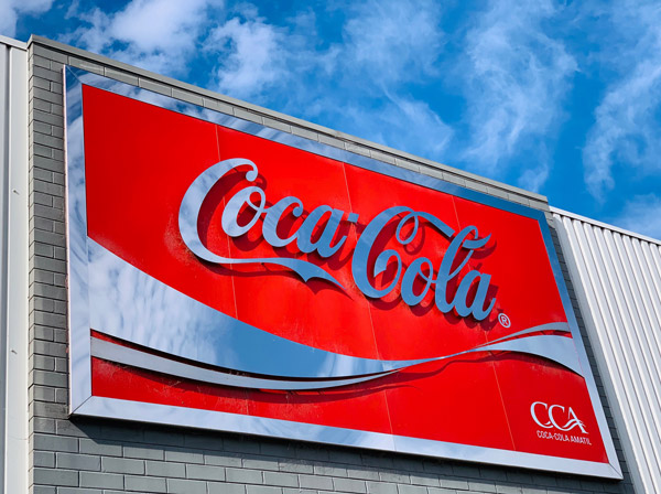 Coca Cola sign by Slick Design